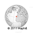 """Outline Map of the Area around 33° 32' 52"""" N, 13° 31' 30"""" W, rectangular outline"""