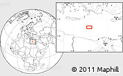"""Blank Location Map of the area around 33°32'52""""N,28°7'30""""E"""