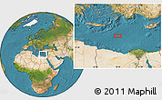 """Satellite Location Map of the area around 33°32'52""""N,28°7'30""""E"""