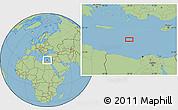 "Savanna Style Location Map of the area around 33°32'52""N,28°7'30""E"