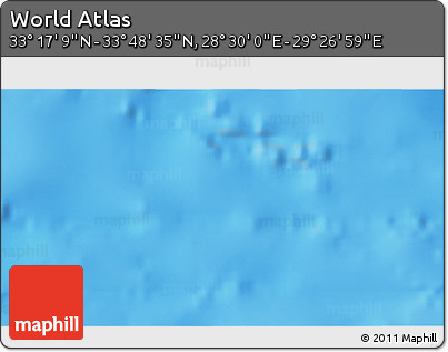 """Shaded Relief 3D Map of the Area around 33°32'52""""N,28°58'30""""E"""