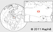 """Blank Location Map of the area around 33°32'52""""N,28°58'30""""E"""