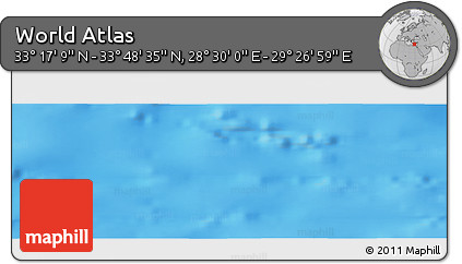 """Shaded Relief Panoramic Map of the Area around 33°32'52""""N,28°58'30""""E"""