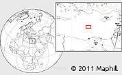 """Blank Location Map of the area around 33°32'52""""N,29°49'30""""E"""