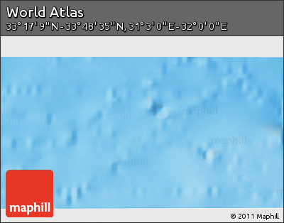 """Shaded Relief 3D Map of the Area around 33°32'52""""N,31°31'29""""E"""