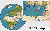 """Satellite Location Map of the area around 33°32'52""""N,31°31'29""""E"""