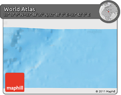 """Shaded Relief 3D Map of the Area around 33°32'52""""N,33°13'30""""E"""