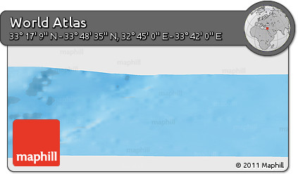 """Physical Panoramic Map of the Area around 33°32'52""""N,33°13'30""""E"""
