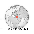 """Outline Map of the Area around 33° 32' 52"""" N, 34° 4' 30"""" E, rectangular outline"""