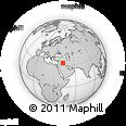 Outline Map of Kubaysah, rectangular outline