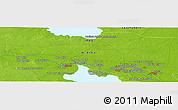 Physical Panoramic Map of Ar Ramādī