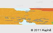 Political Panoramic Map of Ar Ramādī