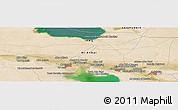Satellite Panoramic Map of Ar Ramādī