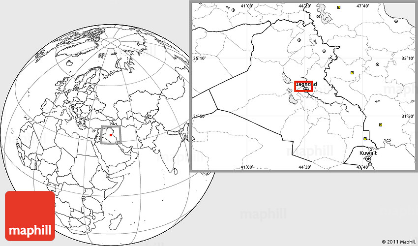 blank location map of baghdad