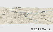Shaded Relief Panoramic Map of Gol Gol