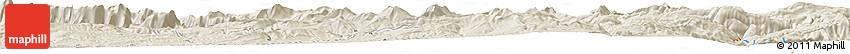 Shaded Relief Horizon Map of Khorramābād