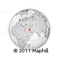 """Outline Map of the Area around 33° 32' 52"""" N, 48° 31' 29"""" E, rectangular outline"""