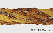 Physical Panoramic Map of Khorramābād