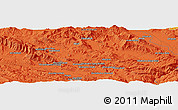 Political Panoramic Map of Khorramābād
