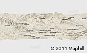 Shaded Relief Panoramic Map of Khorramābād