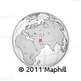 """Outline Map of the Area around 33° 32' 52"""" N, 51° 4' 30"""" E, rectangular outline"""