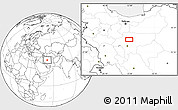 """Blank Location Map of the area around 33°32'52""""N,51°55'29""""E"""