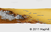 """Physical Panoramic Map of the area around 33°32'52""""N,51°55'29""""E"""