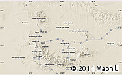 """Shaded Relief Map of the area around 33°32'52""""N,53°37'30""""E"""