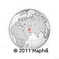 """Outline Map of the Area around 33° 32' 52"""" N, 53° 37' 30"""" E, rectangular outline"""