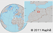 Gray Location Map of Azrou