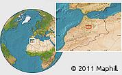 Satellite Location Map of Azrou