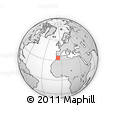 """Outline Map of the Area around 33° 32' 52"""" N, 5° 52' 30"""" W, rectangular outline"""