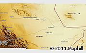 Physical 3D Map of Ḩājjī Ḩaqdād