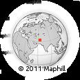 Outline Map of Khamīn, rectangular outline