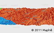 Political Panoramic Map of Aghīghūl