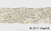 Shaded Relief Panoramic Map of Aghīghūl