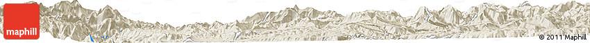Shaded Relief Horizon Map of Bālnah Bughzak