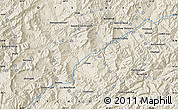 Shaded Relief Map of Band-e Bāgh