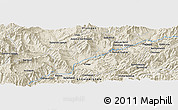 Shaded Relief Panoramic Map of Bālnah Kharbītak