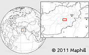 Blank Location Map of Ajrestān
