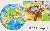Physical Location Map of Ajrestān