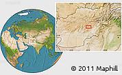 Satellite Location Map of Ajrestān