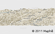 "Shaded Relief Panoramic Map of the area around 33° 32' 52"" N, 67° 13' 29"" E"