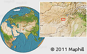 """Satellite Location Map of the area around 33°32'52""""N,68°4'29""""E"""