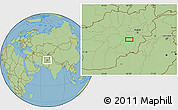 "Savanna Style Location Map of the area around 33°32'52""N,68°4'29""E"