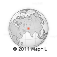 """Outline Map of the Area around 33° 32' 52"""" N, 68° 4' 29"""" E, rectangular outline"""