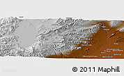 Physical Panoramic Map of Ghaznī