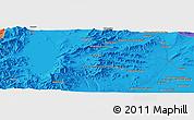 Political Panoramic Map of Ghaznī