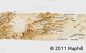 Satellite Panoramic Map of Ghaznī