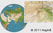 """Satellite Location Map of the area around 33°32'52""""N,69°46'30""""E"""